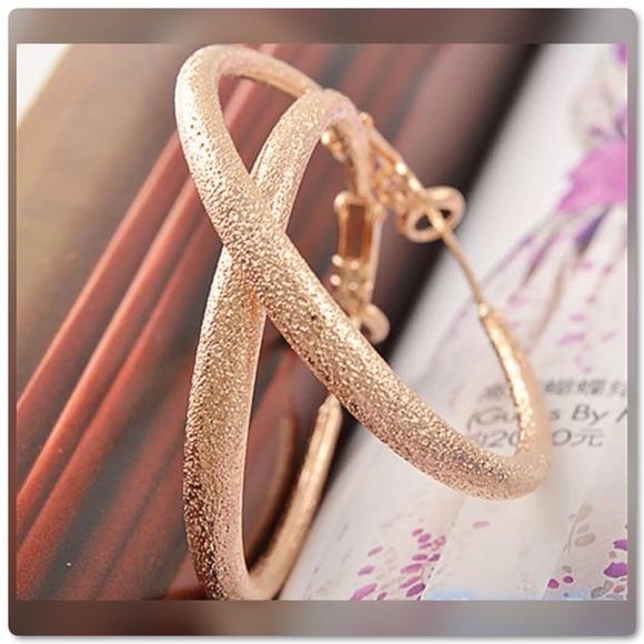 Pretty Girl Swag Jewelry Jewelry - 14K GP Large Scrub Hoop Earrings